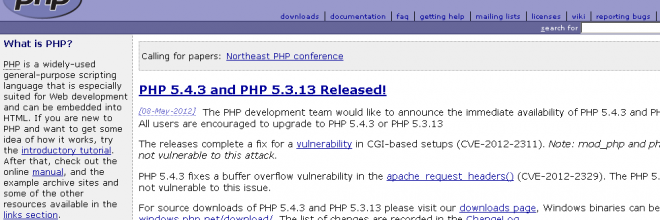 php.net full disclosure der php.net-Emailadressen